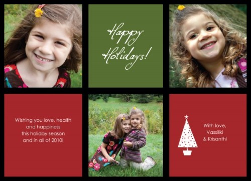 V&K holiday card
