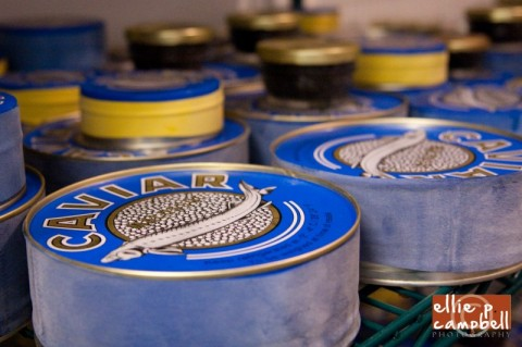 Caviar jars and cans