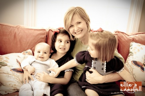 Cassie with her little ones