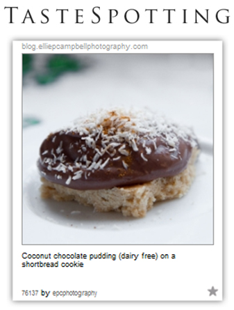 TasteSpotting - Coconut chocolate pudding
