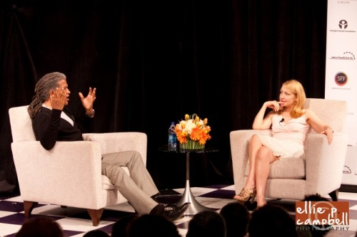 Elvis Mitchell interviewing Patricia Clarkson
