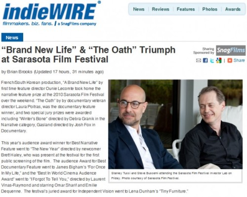 Stanley Tucci and Steve Buscemi at Sarasota Film Festival - IndieWire