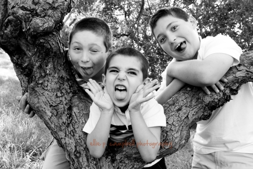 Ian, Mykal, and Noah